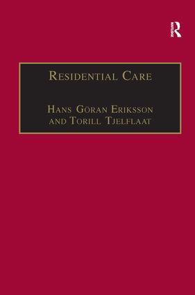 Residential Care: Horizons for the New Century book cover