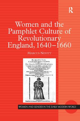 Women and the Pamphlet Culture of Revolutionary England, 1640-1660 book cover