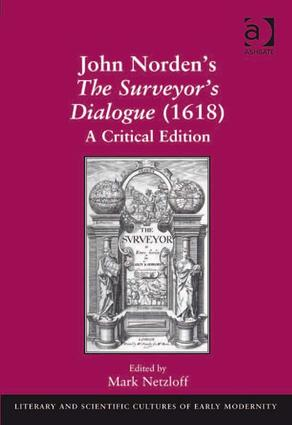John Norden's The Surveyor's Dialogue (1618): A Critical Edition book cover