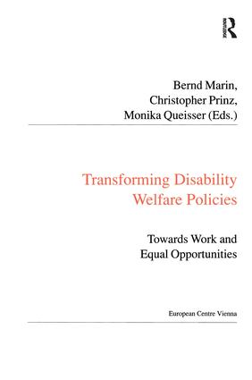 Transforming Disability Welfare Policies: Towards Work and Equal Opportunities, 1st Edition (Paperback) book cover