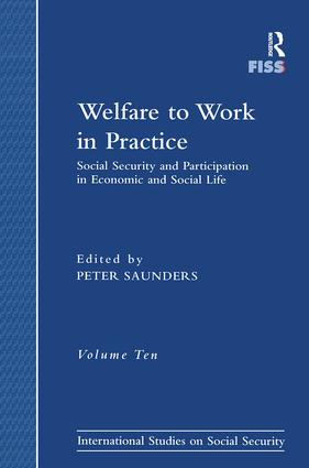 Welfare to Work in Practice: Social Security and Participation in Economic and Social Life book cover