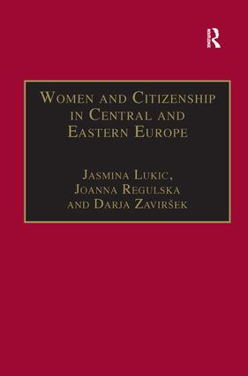 Women and Citizenship in Central and Eastern Europe: 1st Edition (Hardback) book cover