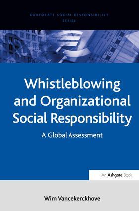 Whistleblowing and Organizational Social Responsibility
