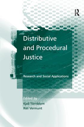 Distributive and Procedural Justice
