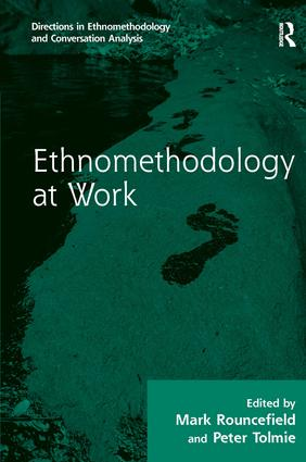 Ethnomethodology at Work (Hardback) book cover