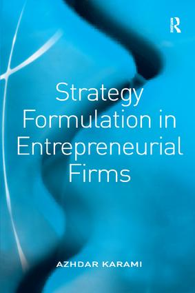 Strategy Formulation in Entrepreneurial Firms: 1st Edition (Hardback) book cover