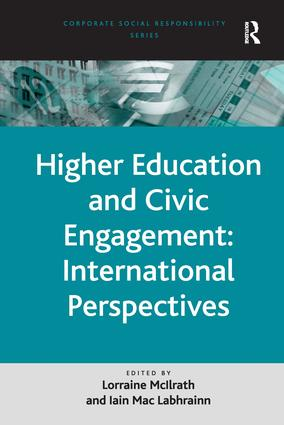 Higher Education and Civic Engagement: International Perspectives: 1st Edition (Hardback) book cover