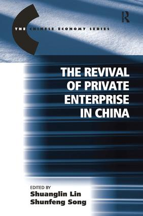 The Revival of Private Enterprise in China book cover