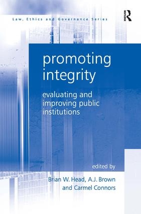 Promoting Integrity: Evaluating and Improving Public Institutions, 1st Edition (Hardback) book cover