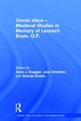 Omnia disce – Medieval Studies in Memory of Leonard Boyle, O.P.: 1st Edition (Hardback) book cover