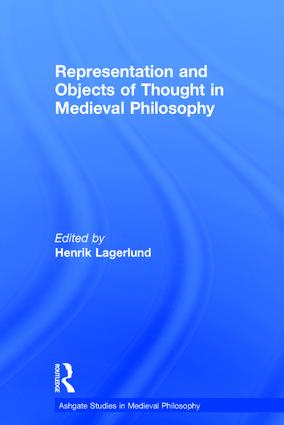 Representation and Objects of Thought in Medieval Philosophy: 1st Edition (Hardback) book cover