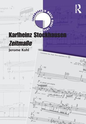 Karlheinz Stockhausen: Zeitmaße book cover