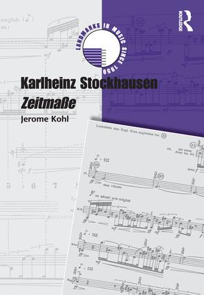 Karlheinz Stockhausen: Zeitmaße (Hardback) book cover
