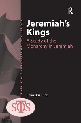 Jeremiah's Kings: A Study of the Monarchy in Jeremiah book cover