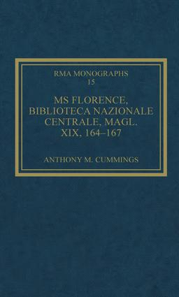MS Florence, Biblioteca Nazionale Centrale, Magl. XIX, 164–167: 1st Edition (Hardback) book cover