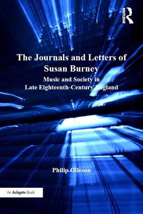 The Journals and Letters of Susan Burney: Music and Society in Late Eighteenth-Century England (Hardback) book cover
