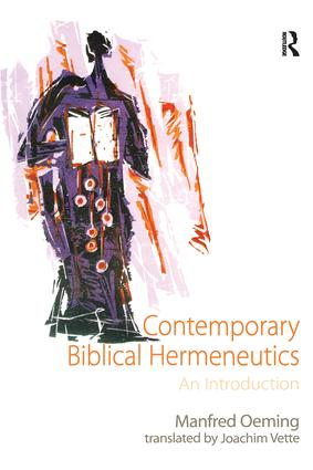 Contemporary Biblical Hermeneutics: An Introduction, 1st Edition (Paperback) book cover