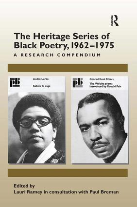 The Heritage Series of Black Poetry, 1962–1975: A Research Compendium (Hardback) book cover