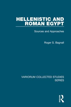Hellenistic and Roman Egypt: Sources and Approaches, 1st Edition (Hardback) book cover