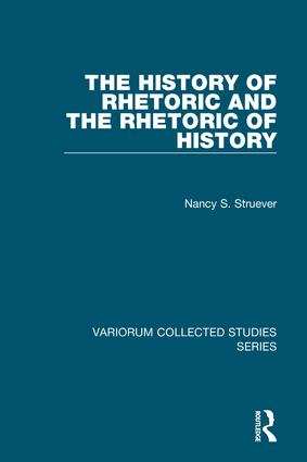 The History of Rhetoric and the Rhetoric of History book cover