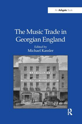 The Music Trade in Georgian England (Hardback) book cover