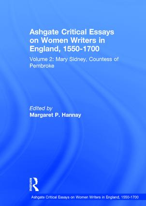 Ashgate Critical Essays on Women Writers in England, 1550-1700: Volume 2: Mary Sidney, Countess of Pembroke book cover
