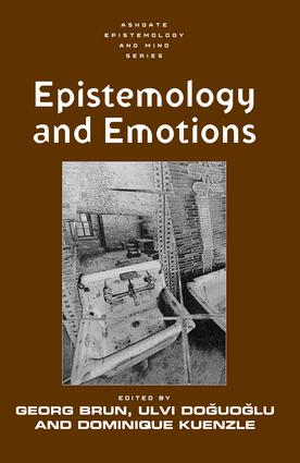 Epistemology and Emotions: 1st Edition (Hardback) book cover
