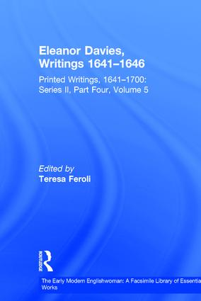 Eleanor Davies, Writings 1641–1646: Printed Writings, 1641–1700: Series II, Part Four, Volume 5 book cover