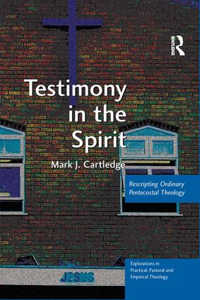 Testimony in the Spirit (Hardback) book cover