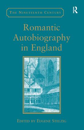 Romantic Autobiography in England: 1st Edition (Hardback) book cover