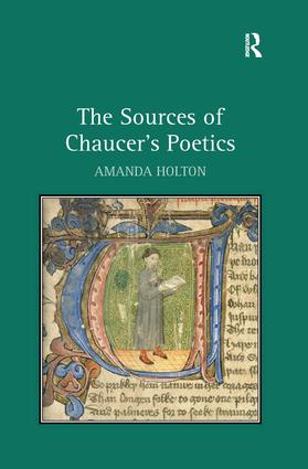 The Sources of Chaucer's Poetics: 1st Edition (Hardback) book cover