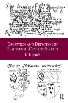 Deception and Detection in Eighteenth-Century Britain (Hardback) book cover