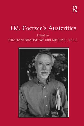 J.M. Coetzee's Austerities: 1st Edition (Hardback) book cover