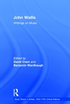 John Wallis: Writings on Music (Hardback) book cover