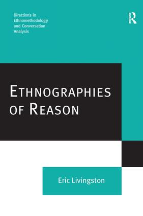 Ethnographies of Reason: 1st Edition (Hardback) book cover
