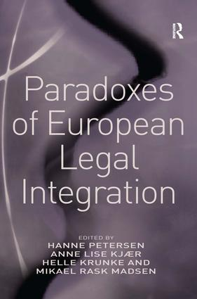 Paradoxes of European Legal Integration: 1st Edition (Paperback) book cover