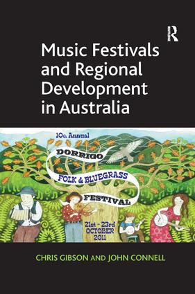 Music Festivals and Regional Development in Australia (Hardback) book cover