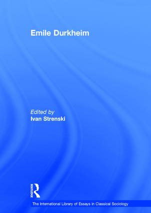Emile Durkheim book cover