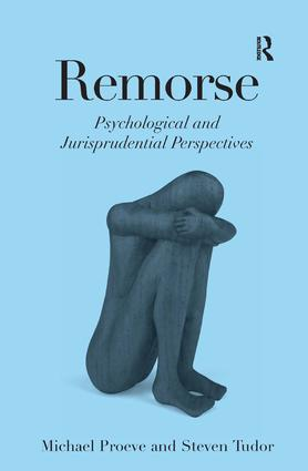 Remorse: Psychological and Jurisprudential Perspectives, 1st Edition (Paperback) book cover