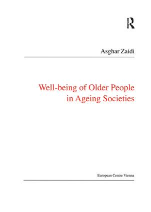 Well-Being of Older People in Ageing Societies: 1st Edition (Paperback) book cover