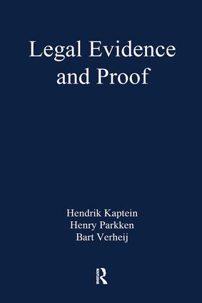 Legal Evidence and Proof: Statistics, Stories, Logic book cover