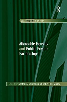Affordable Housing and Public-Private Partnerships (Hardback) book cover