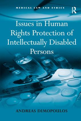 Issues in Human Rights Protection of Intellectually Disabled Persons: 1st Edition (Hardback) book cover