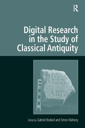 Digital Research in the Study of Classical Antiquity book cover
