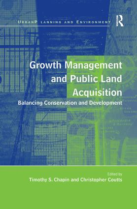 Growth Management and Public Land Acquisition: Balancing Conservation and Development, 1st Edition (Hardback) book cover