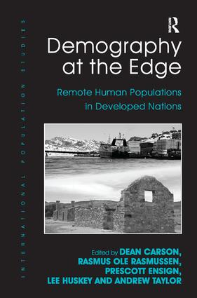 Demography at the Edge: Remote Human Populations in Developed Nations, 1st Edition (Hardback) book cover
