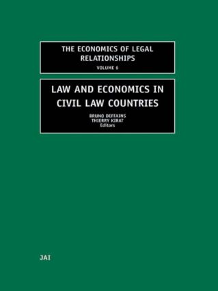 Law and Economics in Civil Law Countries (Hardback) book cover