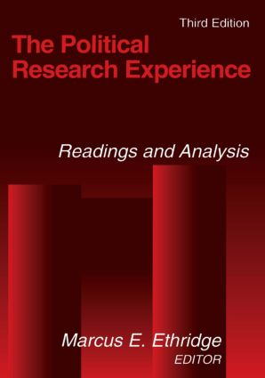 The Political Research Experience: Readings and Analysis: Readings and Analysis, 3rd Edition (Paperback) book cover