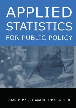 Applied Statistics for Public Policy: 1st Edition (Hardback) book cover