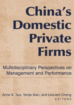 China's Domestic Private Firms: Multidisciplinary Perspectives on Management and Performance: Multidisciplinary Perspectives on Management and Performance, 1st Edition (Paperback) book cover
